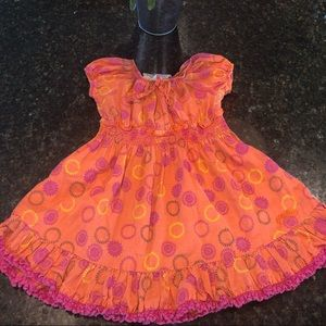 Guess toddler 24M girls orange bright pink dress